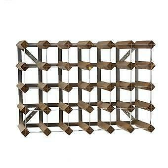Traditional Wine Rack Co. Wijnrek 30 flessen Bruin