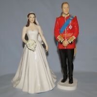 Royal Doulton Figurines Prince William and Kate Wedding Day