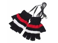 USB Heated Gloves Black / Red
