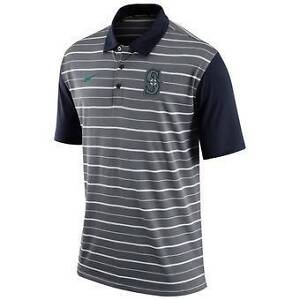 Seattle Mariners Nike Dri-FIT Stripe Polo - Gray Seacliff Park Marion Area Preview