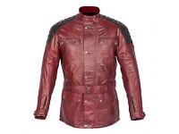 """Spada Berliner Leather Motorcycle Motorbike Jacket Brown Size L - 44"""""""