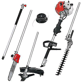 Proplus 5 piece Garden tool strimmer chain saws hedge cutter brushwood