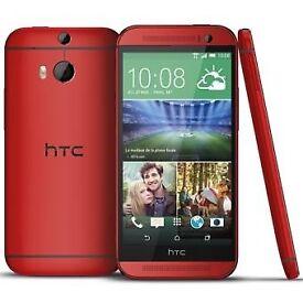 Htc one m8 red 32gb new unlocke brand new box seald
