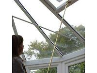 Brass Winding Pole & Pair of Screwjack Window Openers