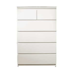 MALM 6-drawer chest, white
