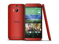 New HTC ONE M8 RED 32GB UNLOCKED SEAL PACK