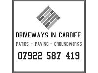 Landscape & Groundworks company in Cardiff | Driveways, Patios, Paving, walls, Digger Hire