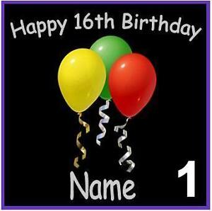 PERSONALISED BIRTHDAY FRIDGE MAGNETS ANY AGE GIFT/PRESENT 1-6