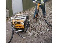 Hydraulic breaker & operator hire JCB Beaver concrete breaker demolition groundworks