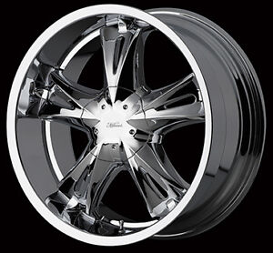 4 Milanni Bit chin 554 Chrome rims 17x8 6-45/6-5.5HC