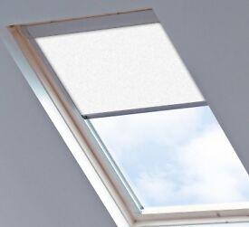 'Velux' white roller blinds x 4