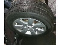 VW Passat B6 x2 Alloy Wheels & Tyres (2006)