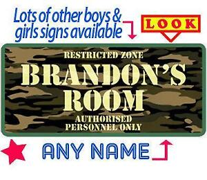 Boys Bedroom Door Signs