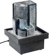 zimmerbrunnen beleuchtung brunnen wasserw nde s ulen ebay. Black Bedroom Furniture Sets. Home Design Ideas