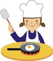 Experienced Pantry Cook & Dishwasher + Kitchen Helper
