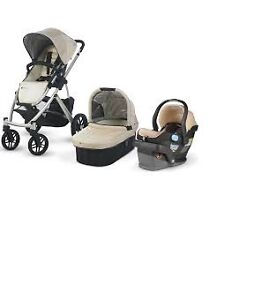 Uppababy Vista Stroller-bassinet 3 in1 + maxi cosi car seat