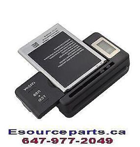 Universal Battery Charger LCD Wall Charger for Cell Phone PDA Camera with USB