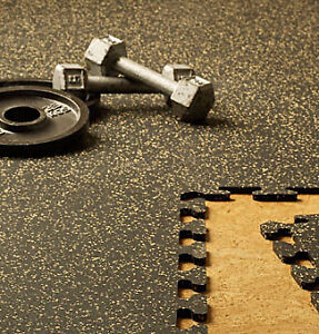 Rubber Gym Matting - Interlockable