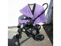 Full Baby Travel System. Excellent condition. Britax B-Smart in Purple for new baby to 4 years.
