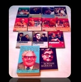 RONNIE BARKER BUNDLE - DVDS/PAPERBACK BOOKS - 13 ITEMS - FOR SALE