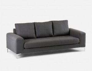 "*As New* 3 Seater Sofa Structube ""Kent"" in Dark Grey"
