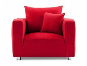 Red Arm Chair with Cushion Structube