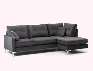 ***Structube suede Sectional **