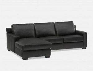 LEATHER SECTIONAL SOFA - structube