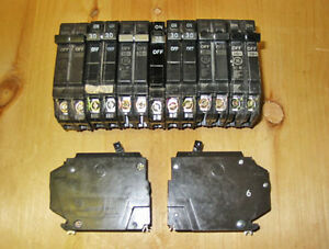 GENERAL ELECTRIC 'THQP' PLUG-ON CIRCUIT BREAKERS ~ RARE!