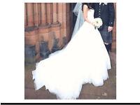Beautiful size 8 wedding dress