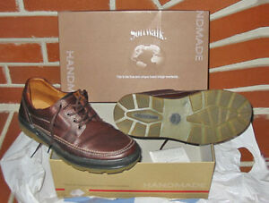 MENS SOFTWALK 'XIMON' BROWN LEATHER HANDMADE SHOES (Sz.9) ~ NEW!