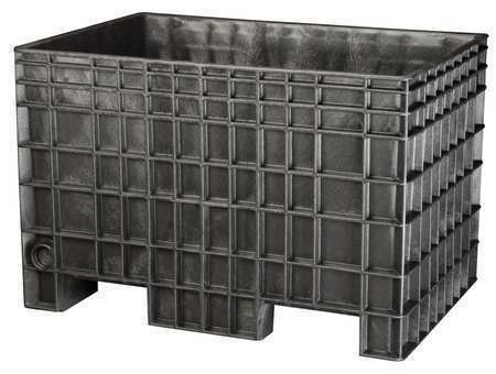 "BUCKHORN BF4229280010000 Bulk Container, 42""L, 29""W, Black"