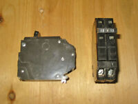 GENERAL ELECTRIC 15 AMP 2 POLE THQP CIRCUIT BREAKER ~ RARE!