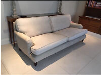 "2 x Large Cream ""Bluebell"" sofas."