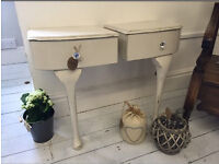 Wall mounted shabby chic bedside tables