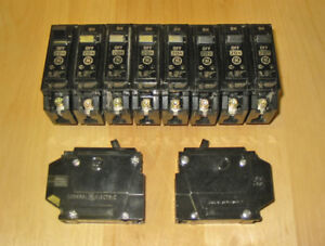 GENERAL ELECTRIC 'TYPE THQL' PLUG-ON CIRCUIT BREAKERS ~ RARE!