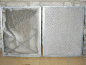 "STEEL WIRE PERMANENT AIR FILTERS (16""W x 20""H x 2'D"") ~ RARE!"