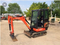 MINI DIGGER AND DUMPER WITH DRIVERS HIRE £160 LOCAL £180 NON LOCAL