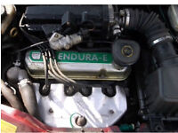 FORD KA ENDURA ENGINE & BOX 1.3 53k miles