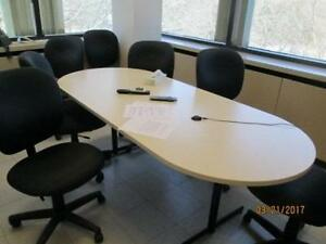 Boardroom Table - 8 Chairs