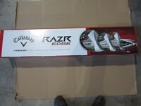 CALLAWAY RAZR EDGE MEN'S NEW IN BOX 11PCS GOLF SET