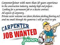 CARPENTER / JOINER -> JOB WANTED