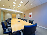Professional meeting rooms by the day/hour!