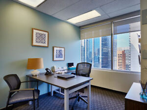 Professional Furnished Window Office in Downtown Calgary!