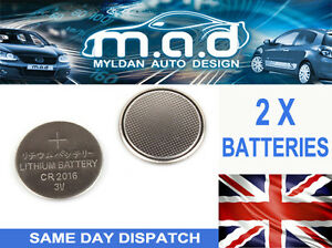 2 x batteries for citroen c1 c2 c3 c4 key remote fob cr 2016 ebay. Black Bedroom Furniture Sets. Home Design Ideas