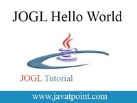 JOGL Hello World - javatpoint