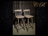 Couronne Royale - A Pair of Tall Chairs - Upcycled