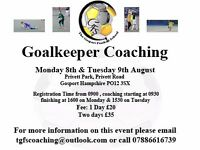 GoalKeeper Coaching 2day session
