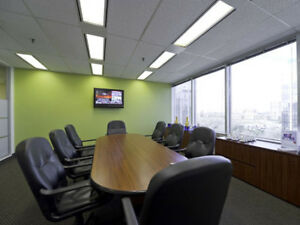Modern Boardroom with Lounge, Coffee Bar, and Reception!