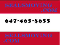 Reliable Moving Services,Short Notice OK!!  647-465-8655